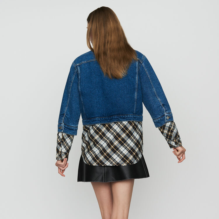 Denim trompe-l'oeil jacket : Jackets color Denim