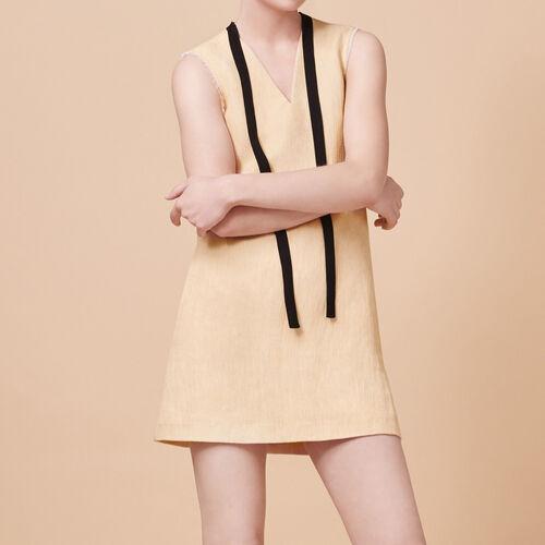 Sleeveless A-line dress : Dresses color Nude
