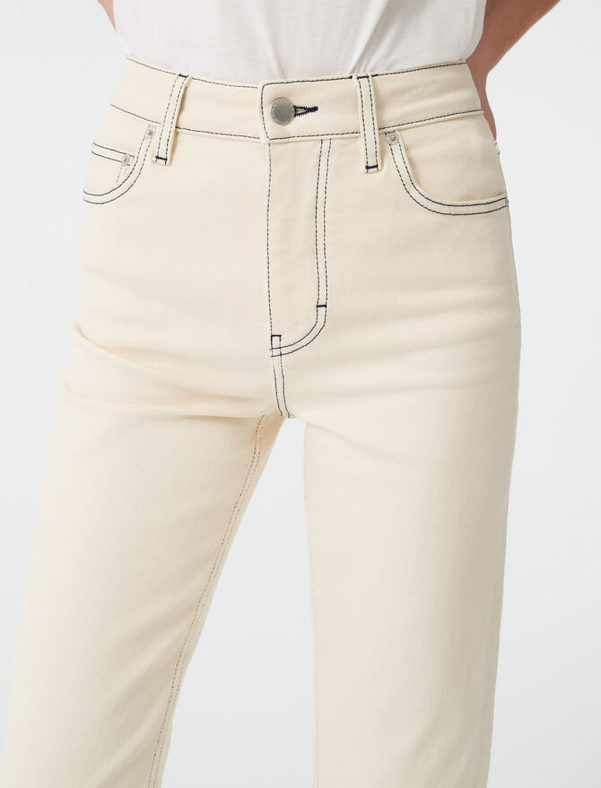 Straight leg jeans with topstitching - Trousers & Jeans - MAJE