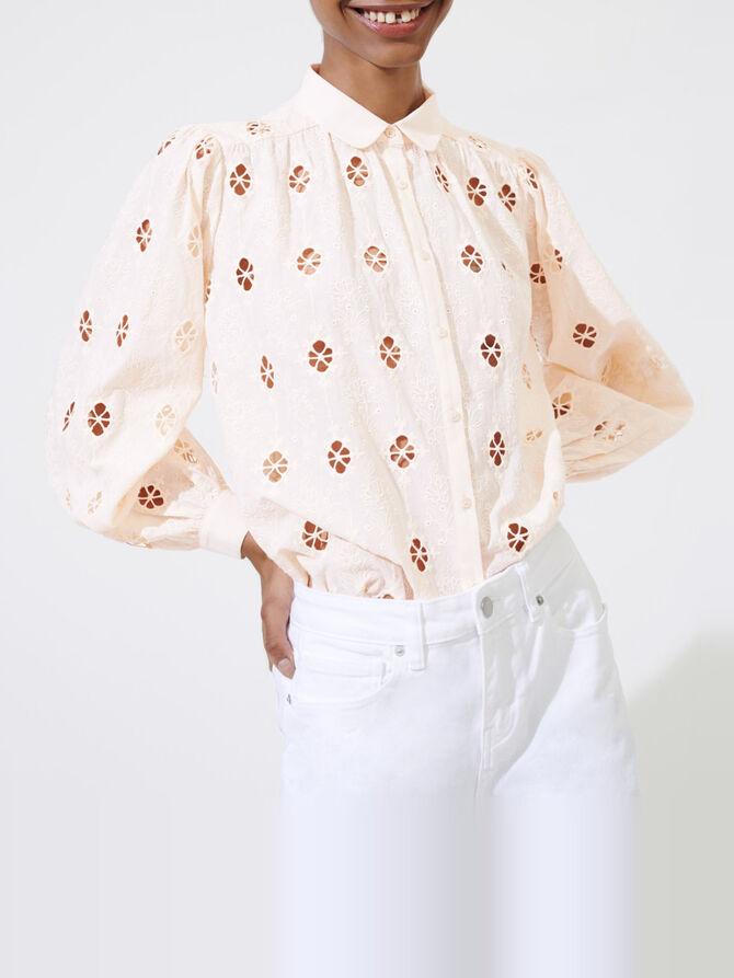 Broderie anglaise shirt - Tops & Shirts - MAJE