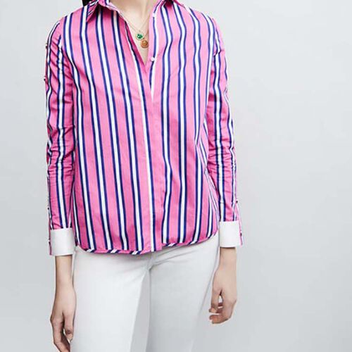 Cotton shirt : Shirts color Stripe