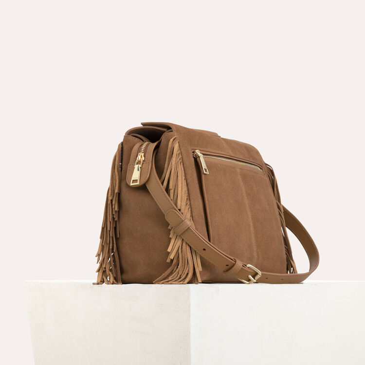 MWALK bag with leather fringe : M Walk color Camel