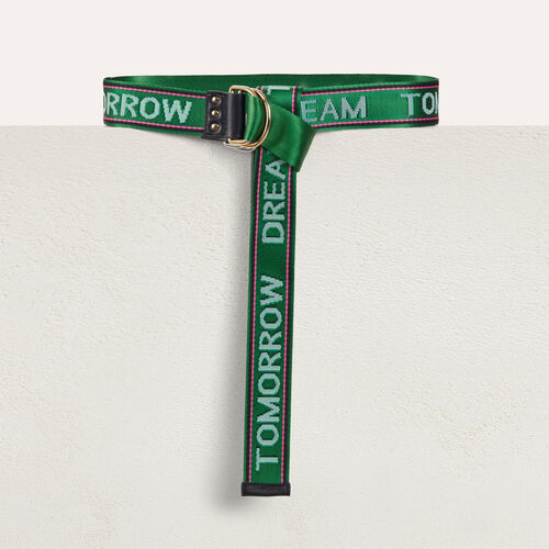 """Dream Tomorrow"" cinch waistbelt : Urban color Green"