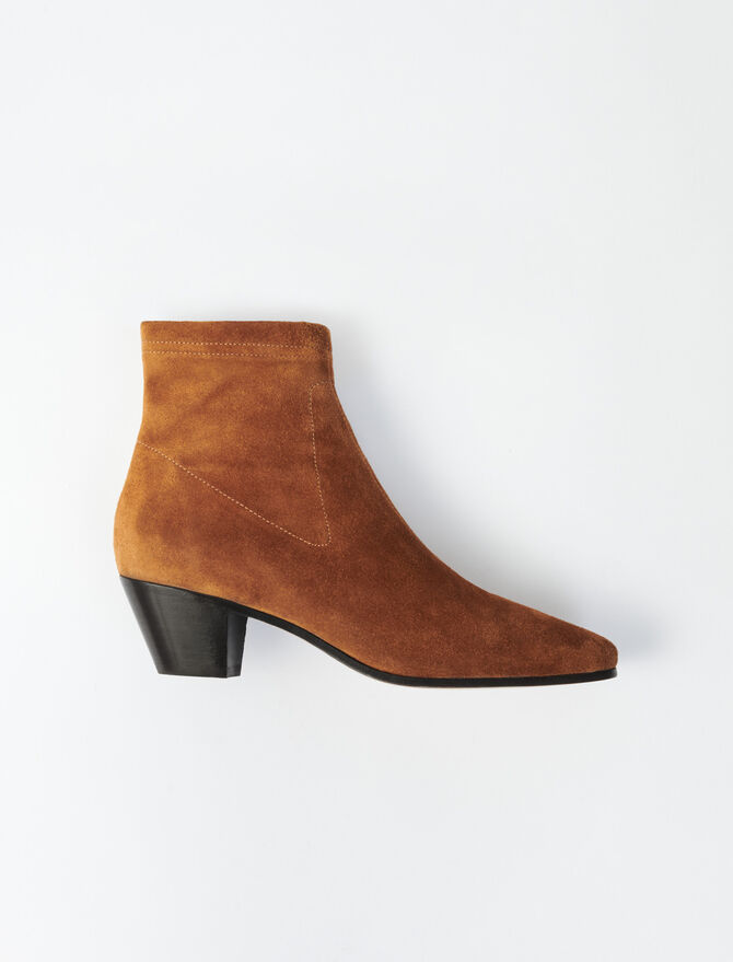 Suede sock boots -  - MAJE