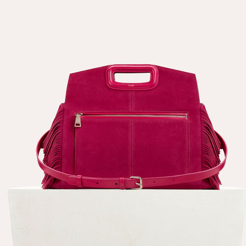 Suede shoulder bag : -50% color Raspberry