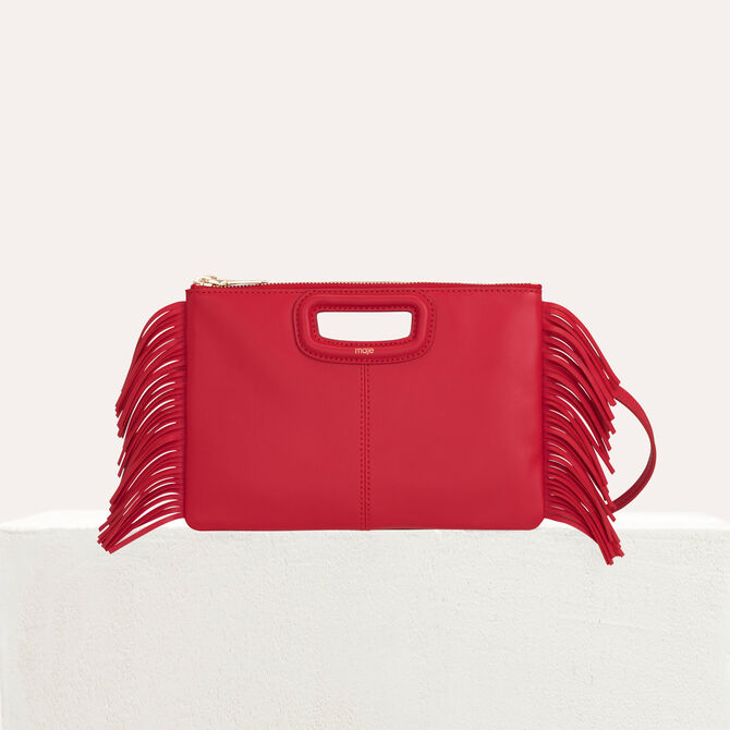 M Duo purse in leather - M Duo - MAJE