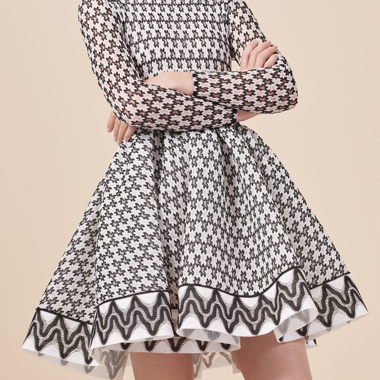Bicolored lace skater dress : Dresses color Two-Tone