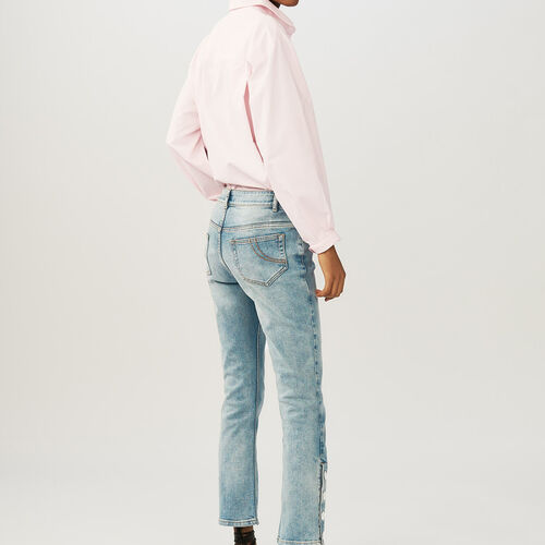 Flared 7/8 denim jeans : Le denim color Denim