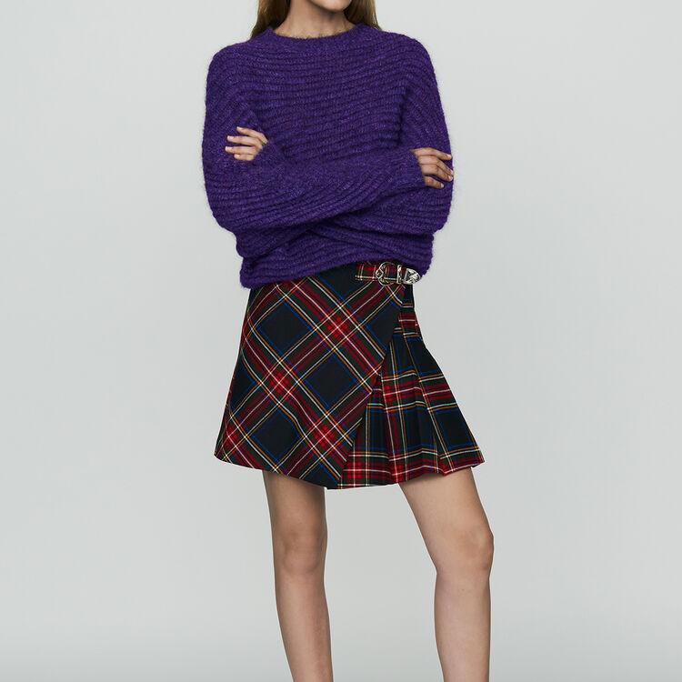 Cropped oversize sweater : Knitwear color Ecru