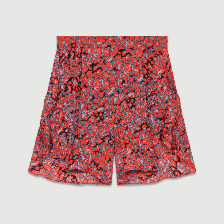 Printed ruffled shorts : Skirts & Shorts color PRINTED