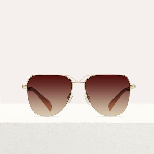 Aviator sunglasses : See all color Burgundy