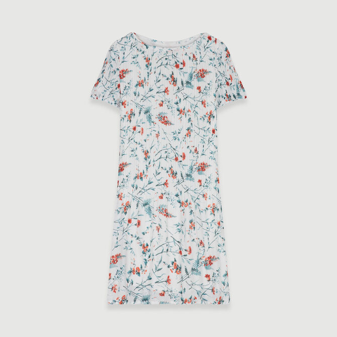 Pleated dress in floral print - staff private sale - MAJE