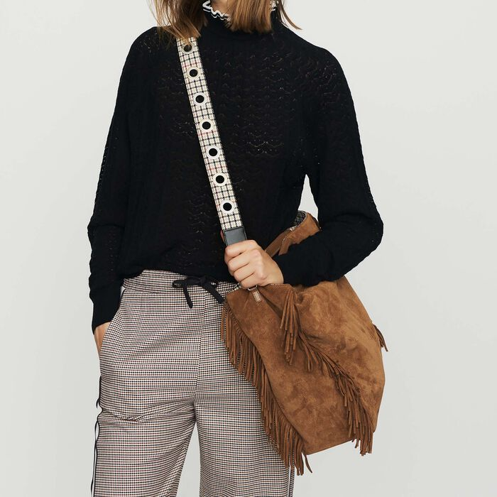 Removable leather shoulder strap : Straps color Beige
