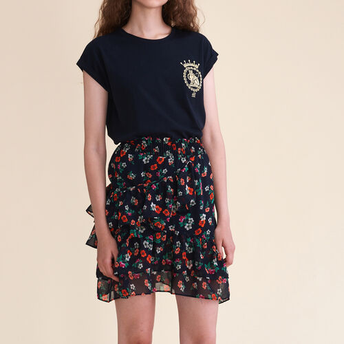 Printed skirt : Skirts & Shorts color Print