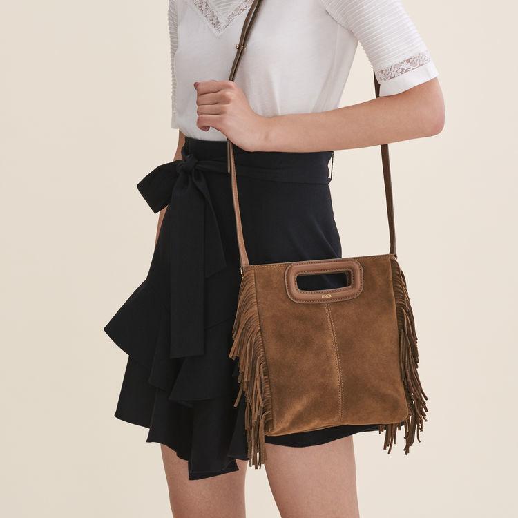 Suede M bag : M bags color Camel