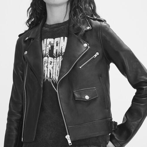 Bonded leather jacket - Jackets - MAJE