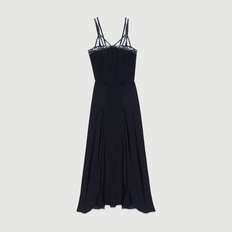Midi dress with rhinestones : New in : Summer Collection color Navy