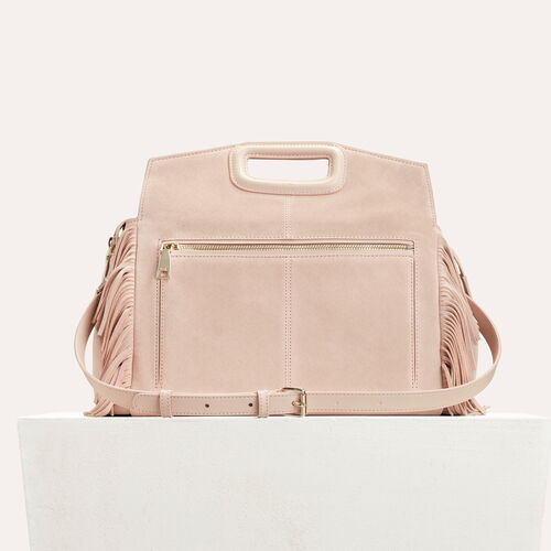 Suede shoulder bag : Bags color PINK DUNE