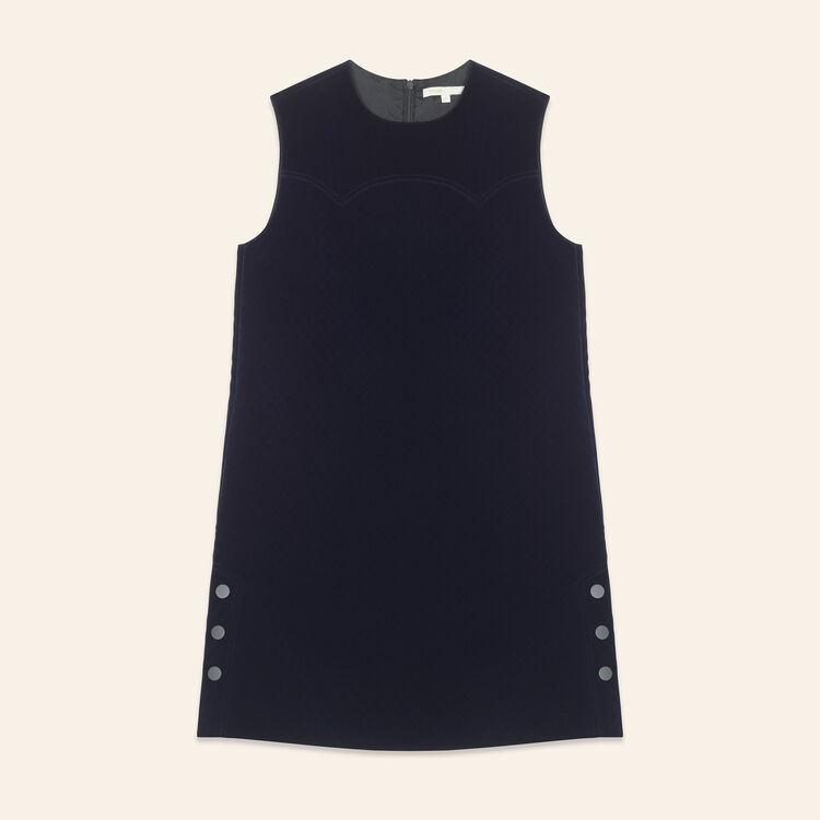 Velvet A-line dress : Dresses color Navy