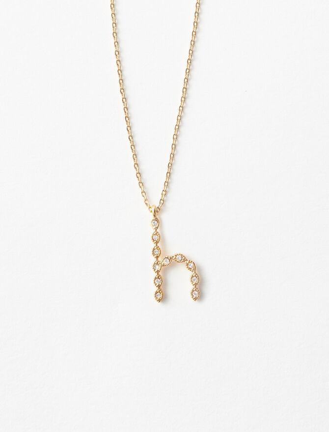 Rhinestone H necklace -  - MAJE
