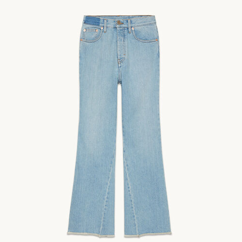 Flared cotton jeans - null - MAJE