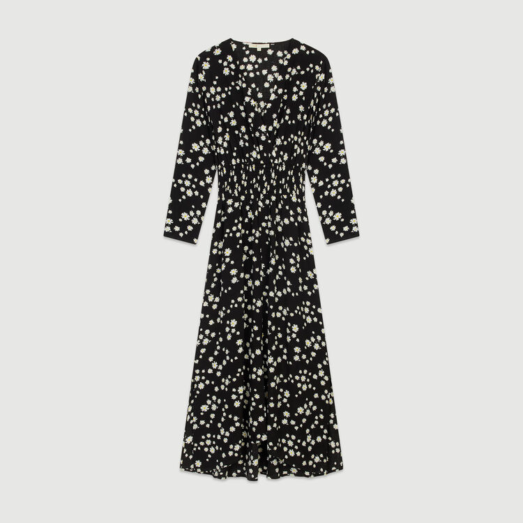 Long dress with daisy print : Dresses color Printed