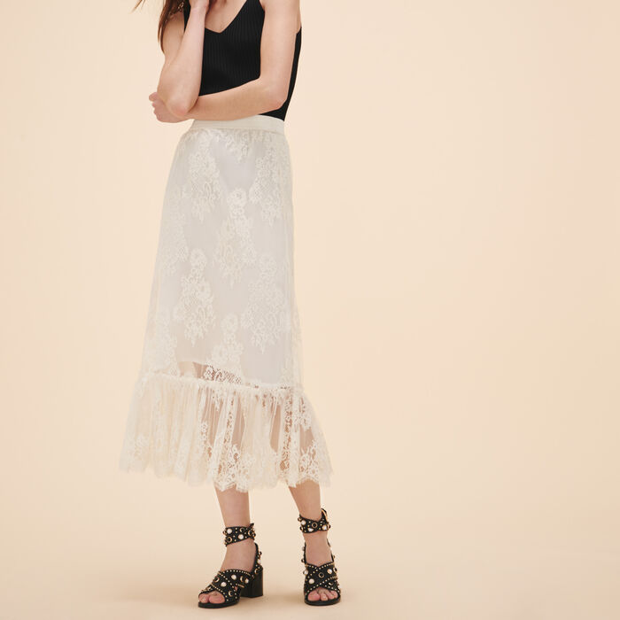 Long lace skirt - -50/60% - MAJE