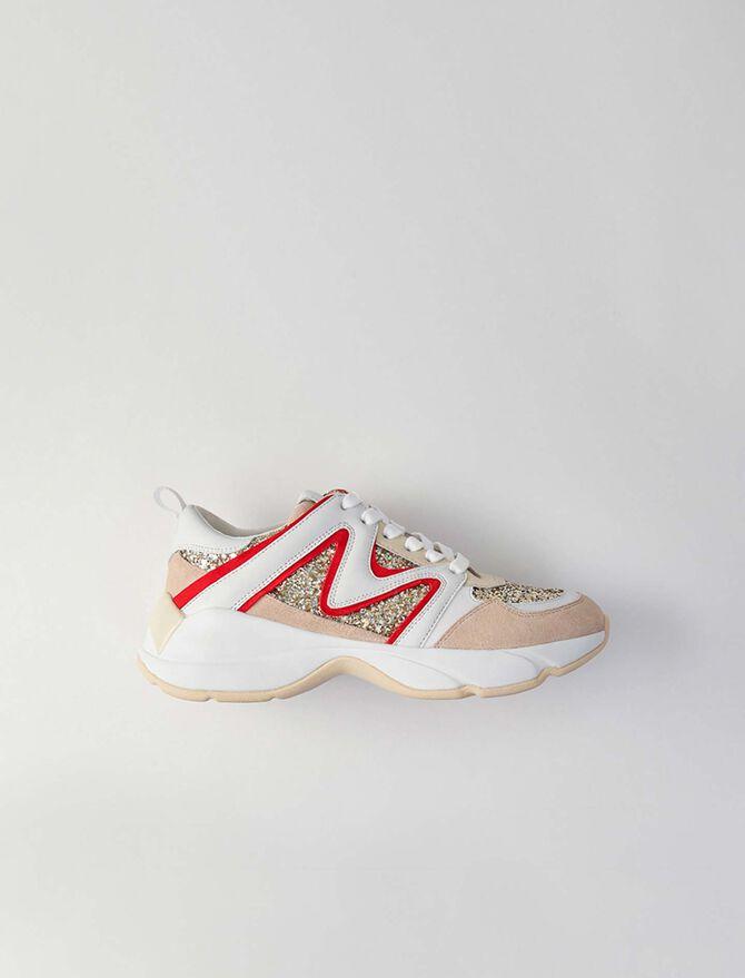 WW22 glitter sneakers - Sneakers - MAJE