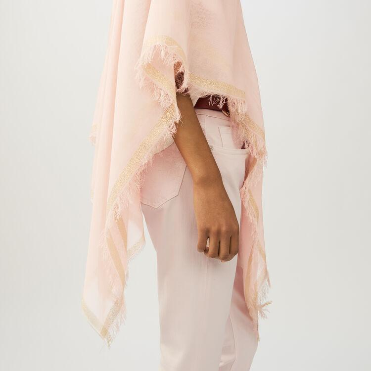 Lurex striped poncho : Shawls & Ponchos color Pink