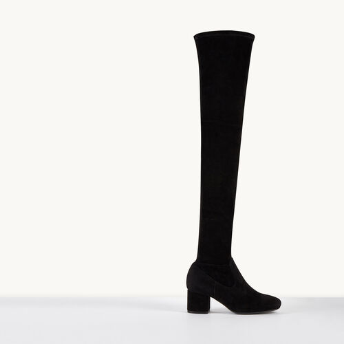 Suede thigh boots : Accessories color Black 210