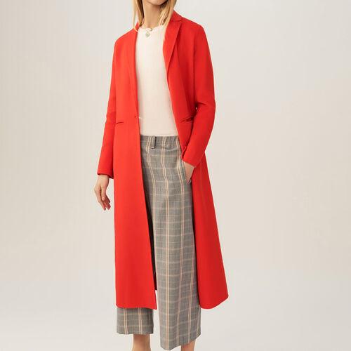 Long coat double face : Coats color Orange