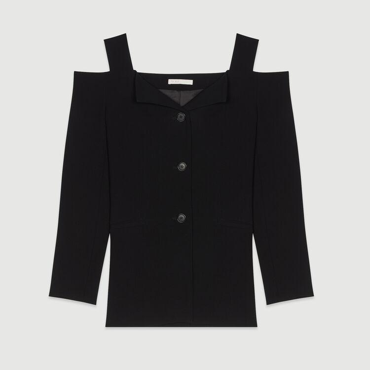 Cold-shoulder jacket : Blazers color Black 210