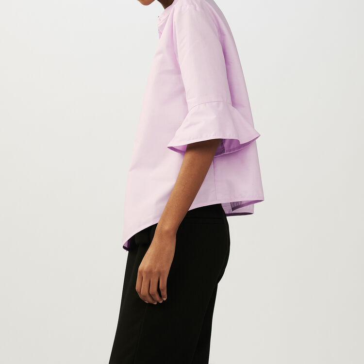 Oversized poplin shirt : Shirts color Pink
