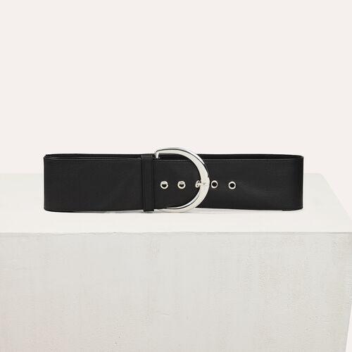 Supple leather belt : Belts color Black 210
