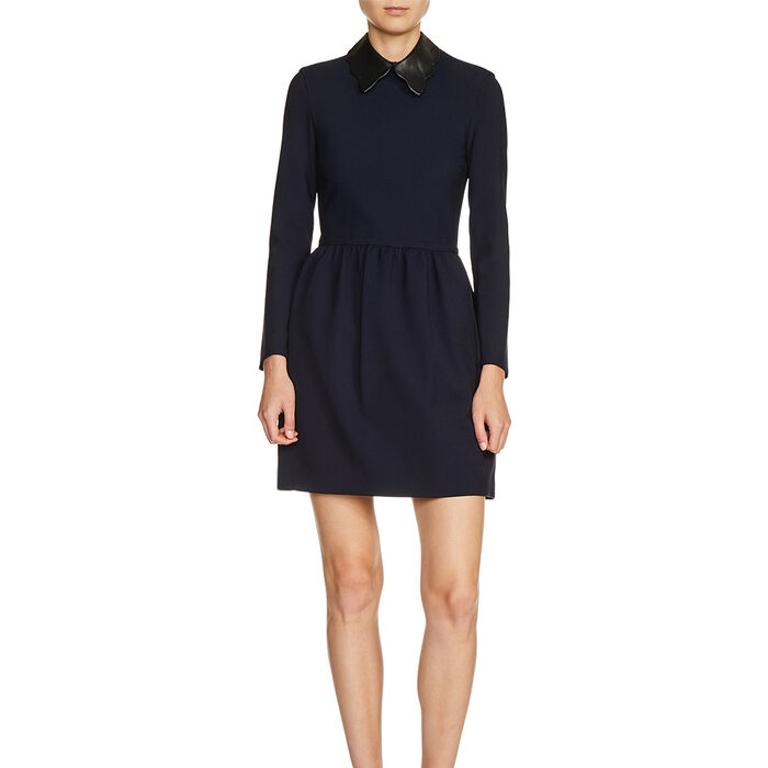 Puffball dress with contrast collar : In exclusivity color Night