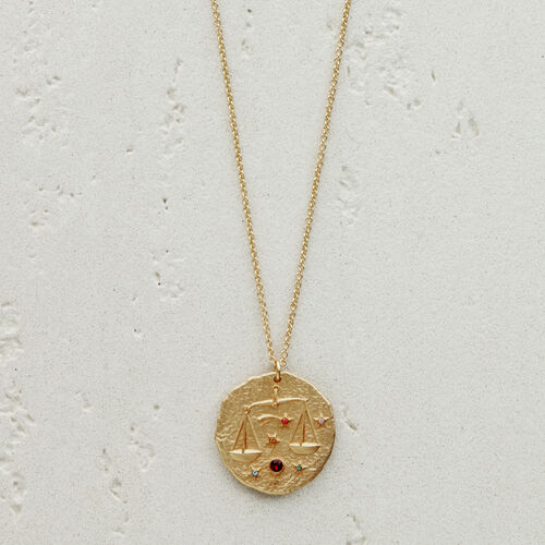 Libra zodiac sign necklace : See all color GOLD