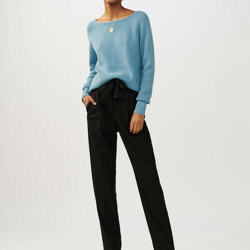 V-back sweater : staff private sale color Blue Sky