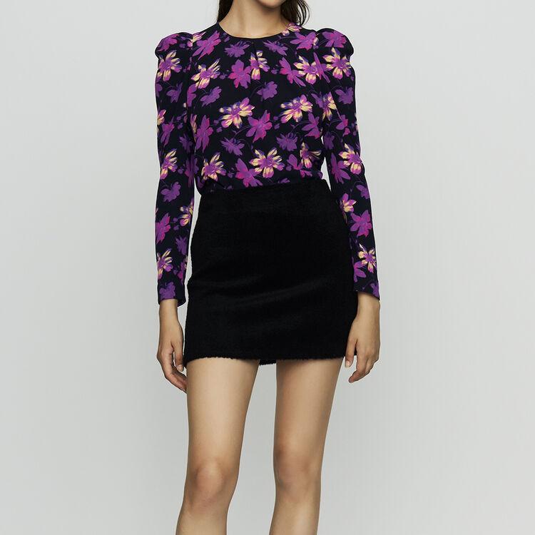 Short alpaca skirt : Skirts & Shorts color Navy