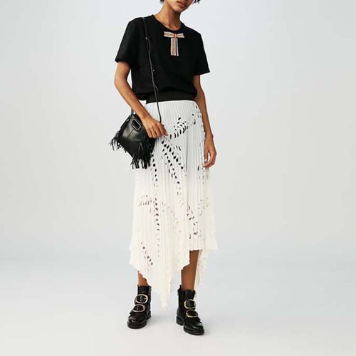 Long pleated skirt : Skirts & Shorts color White