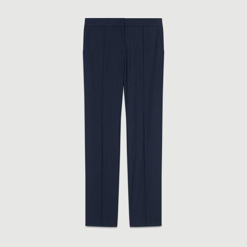 Suit pants with tennis stripes : Trousers color Stripe