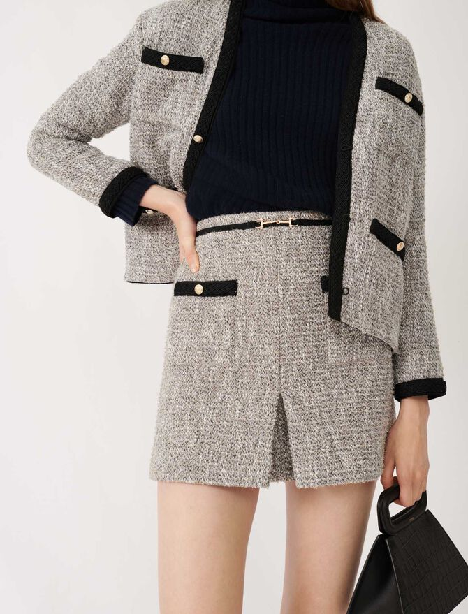 Recycled cotton tweed-style skirt - Skirts & Shorts - MAJE