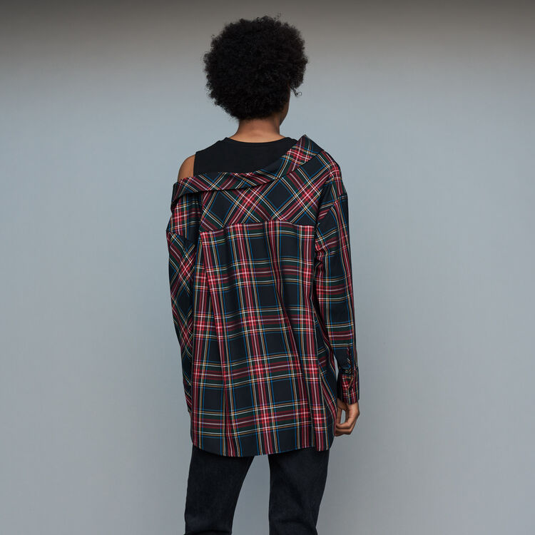 Deconstructured plaid shirt : Shirts color CARREAUX
