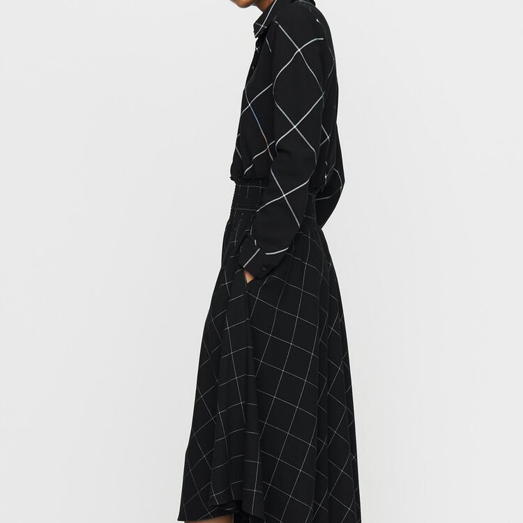 Asymmetric plaid shirt dress : Ready to wear color CARREAUX