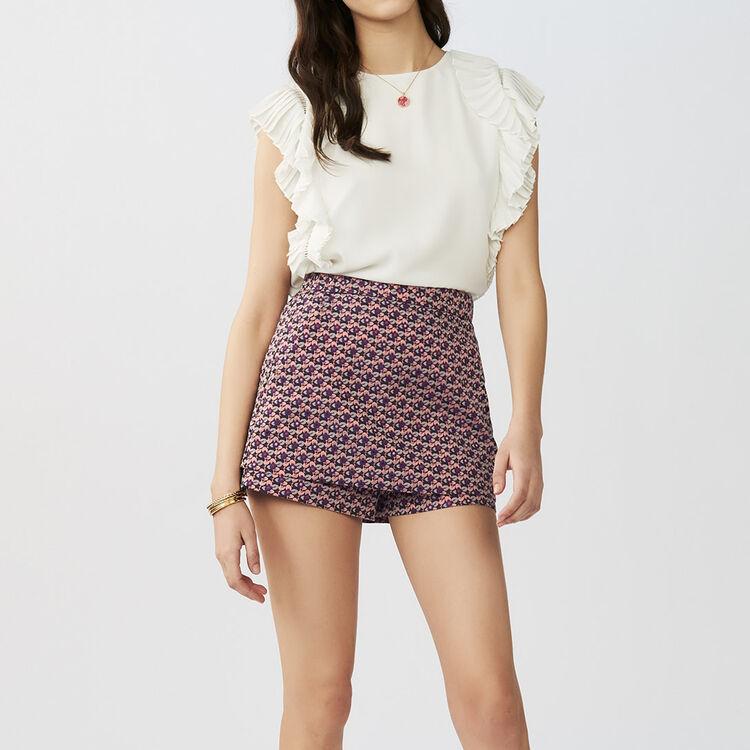 Jacquard skort : Skirts & Shorts color Jacquard