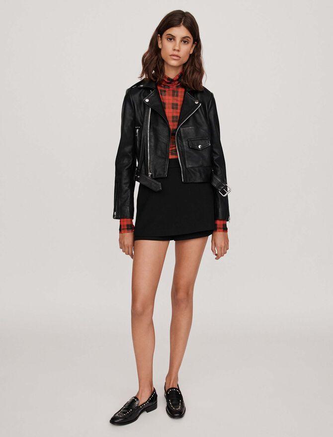 Leather biker-style jacket - Jackets - MAJE