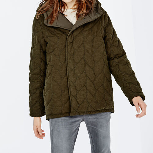Reversible quilted coat : Coats color Khaki