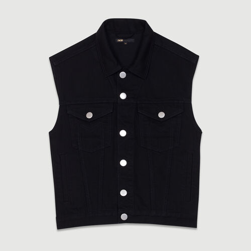 Denim vest : Ready to wear color Black 210