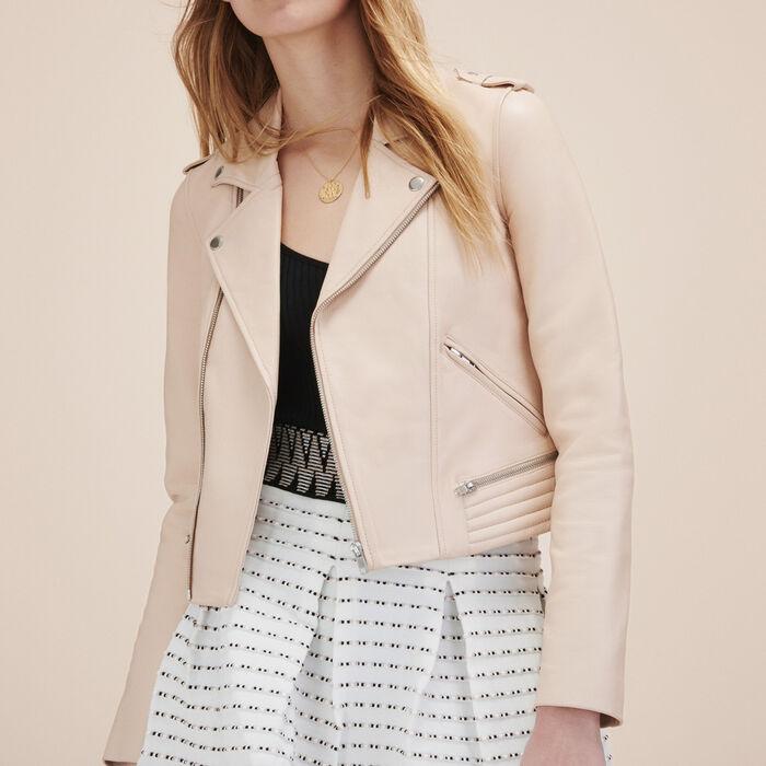 Leather jacket -  - MAJE