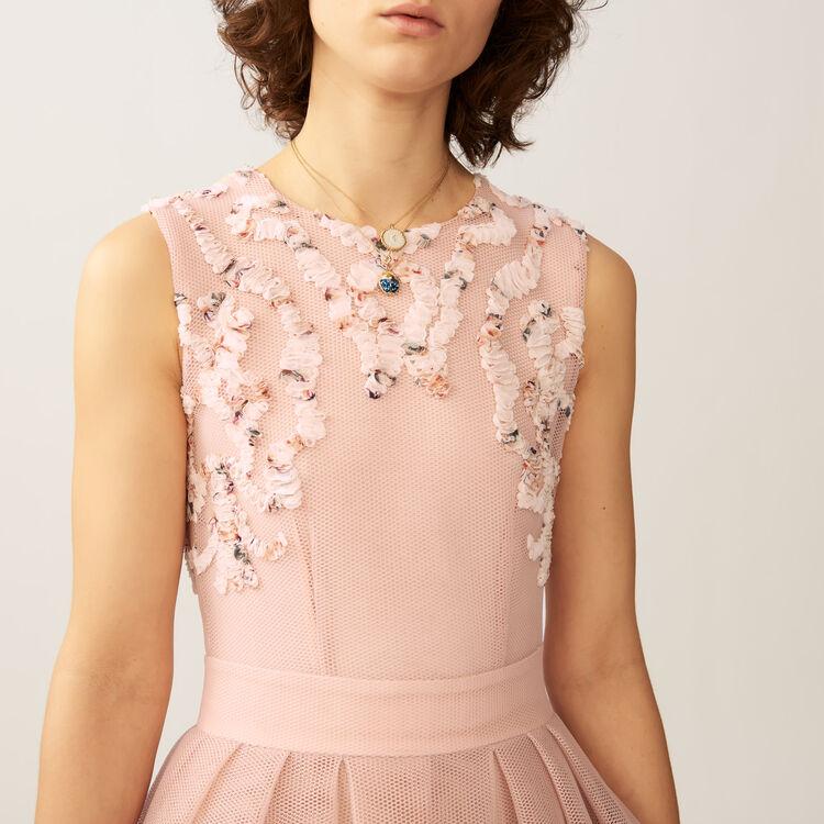 Sleeveless basket weave dress : Dresses color Pink