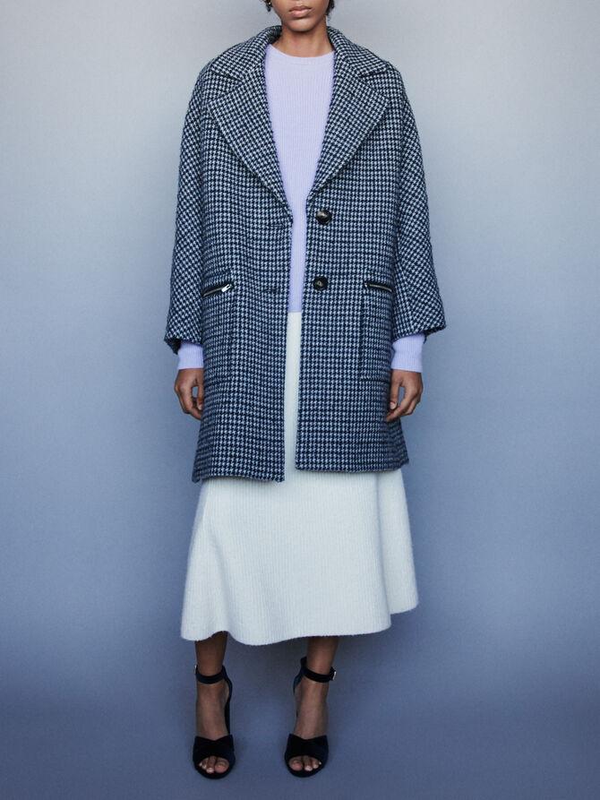 Plaid coat with zipped pockets - SoldesFR_Manteaux_blousons - MAJE